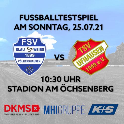 Testspiel gegen Ufhausen bereits 10:30 Uhr!